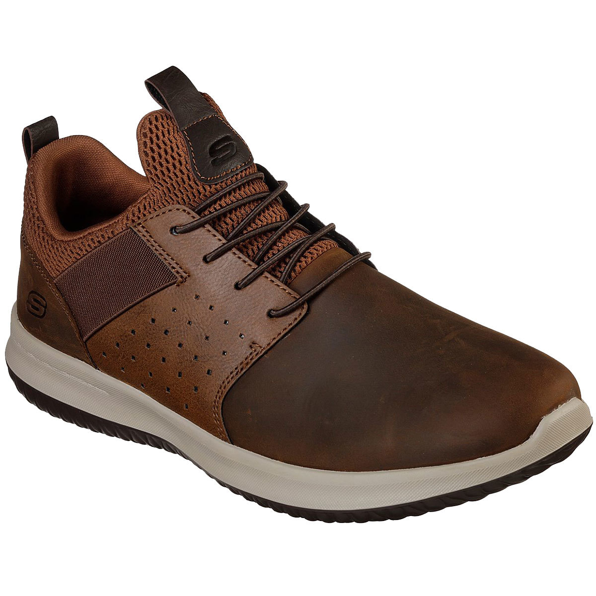 """Skechers Men's Delson A """" Axton Sneakers - Brown, 9.5"""