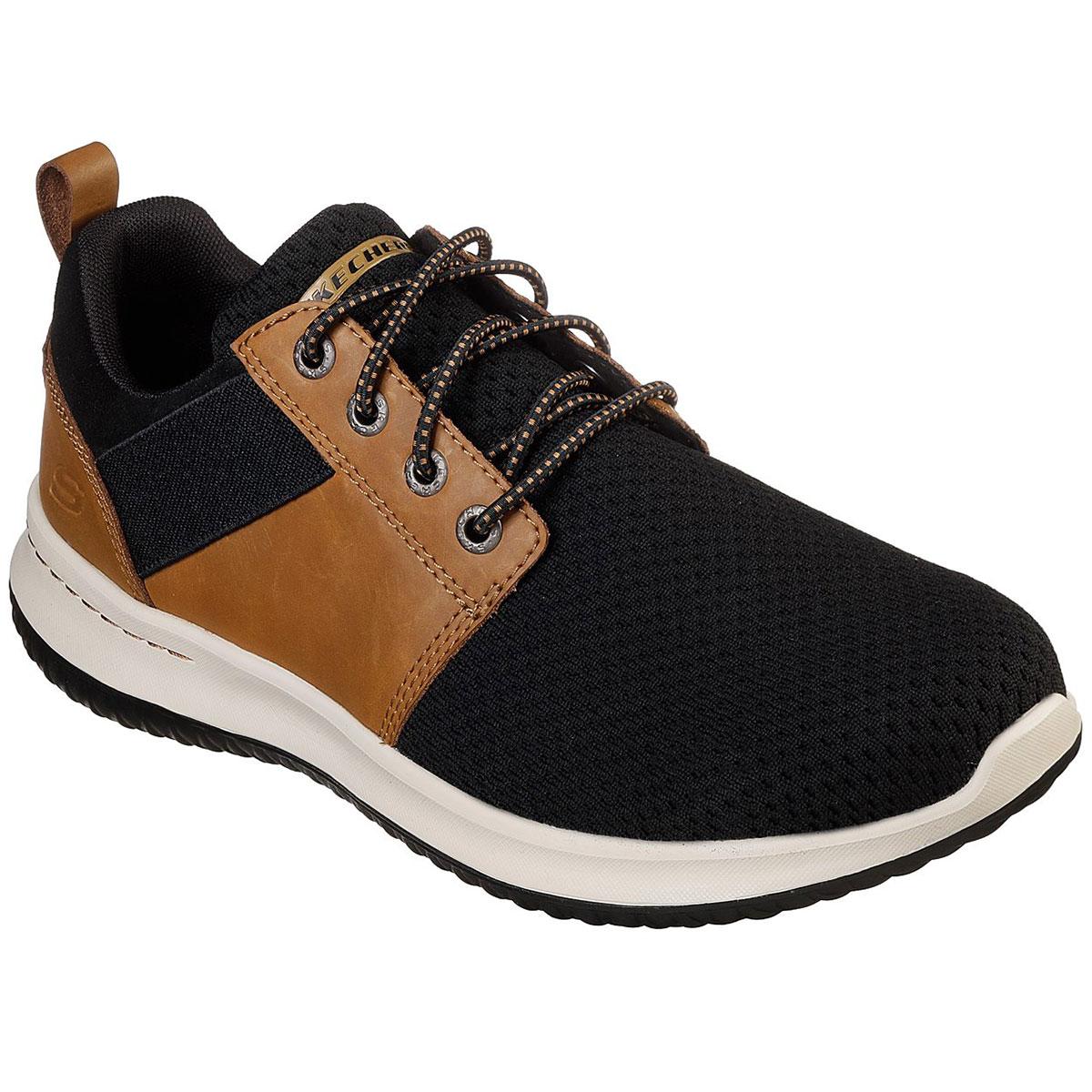 "Skechers Men's Delson A "" Brant Sneakers - Black, 10"