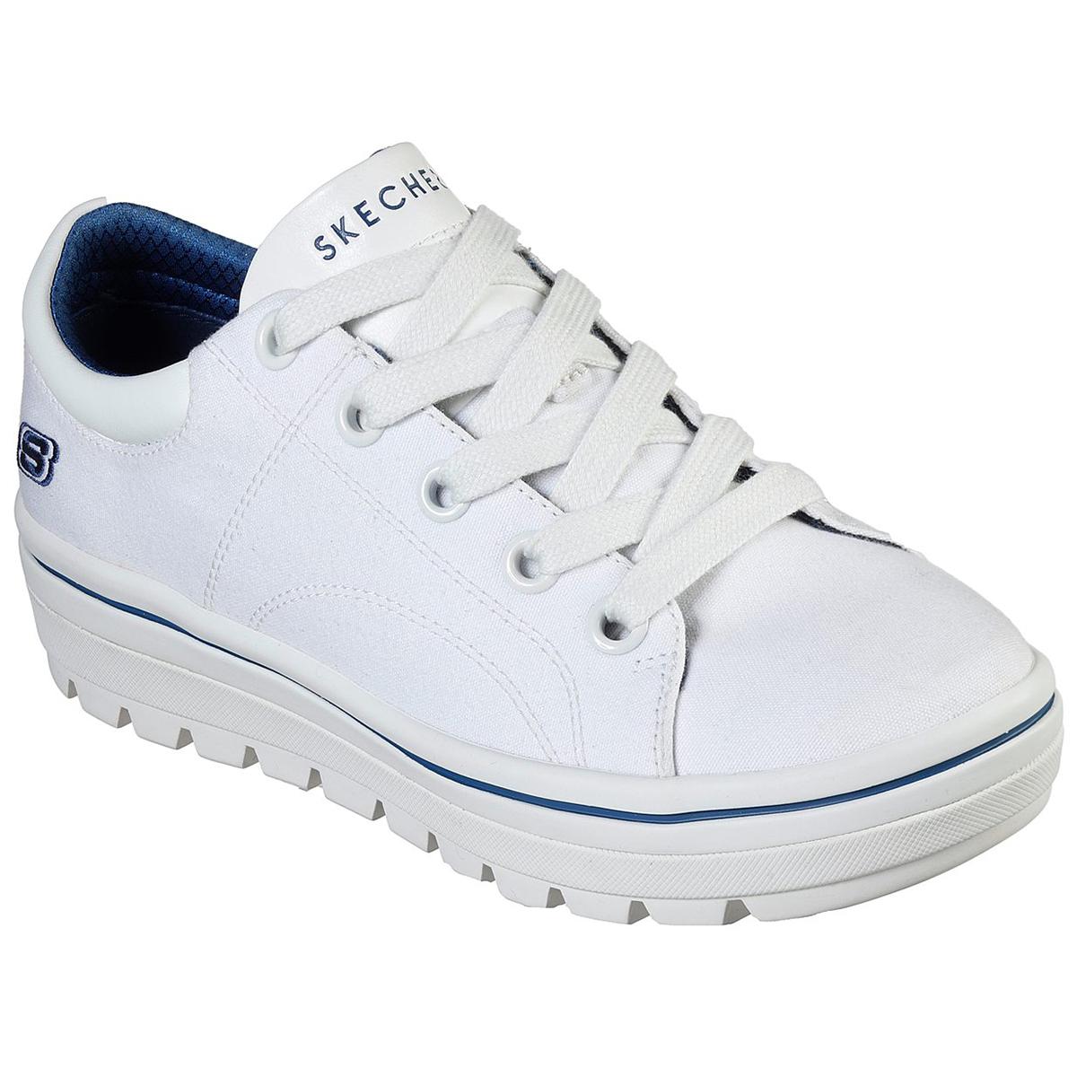 Skechers Women's Street Cleat Bring It Back Sneakers - White, 7