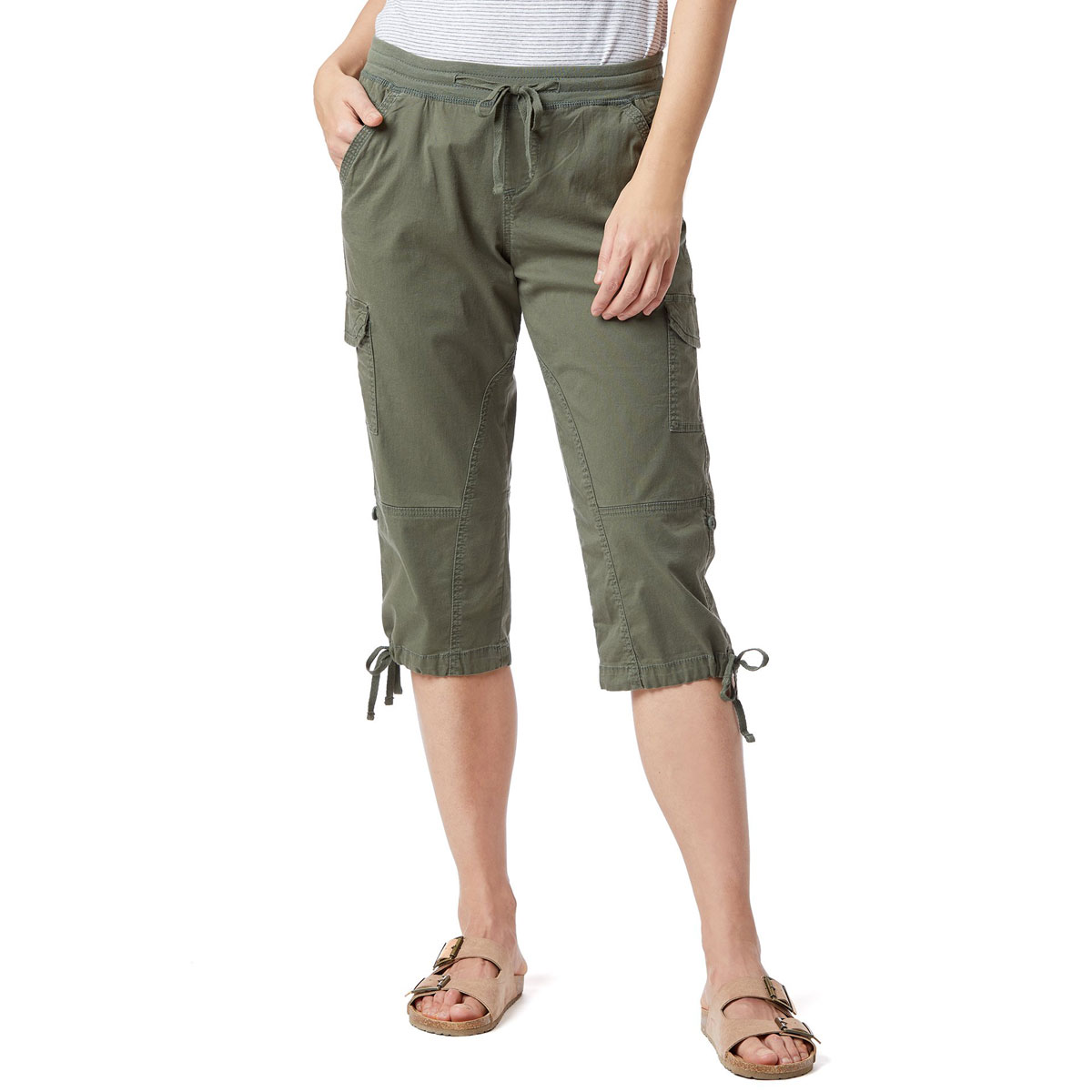 Unionbay Women's Devora Convertible Skimmer Crop Pants - Green, 14