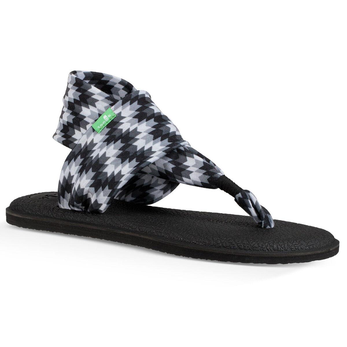 Sanuk Women's Yoga Sling 2 Sandals - Black, 10