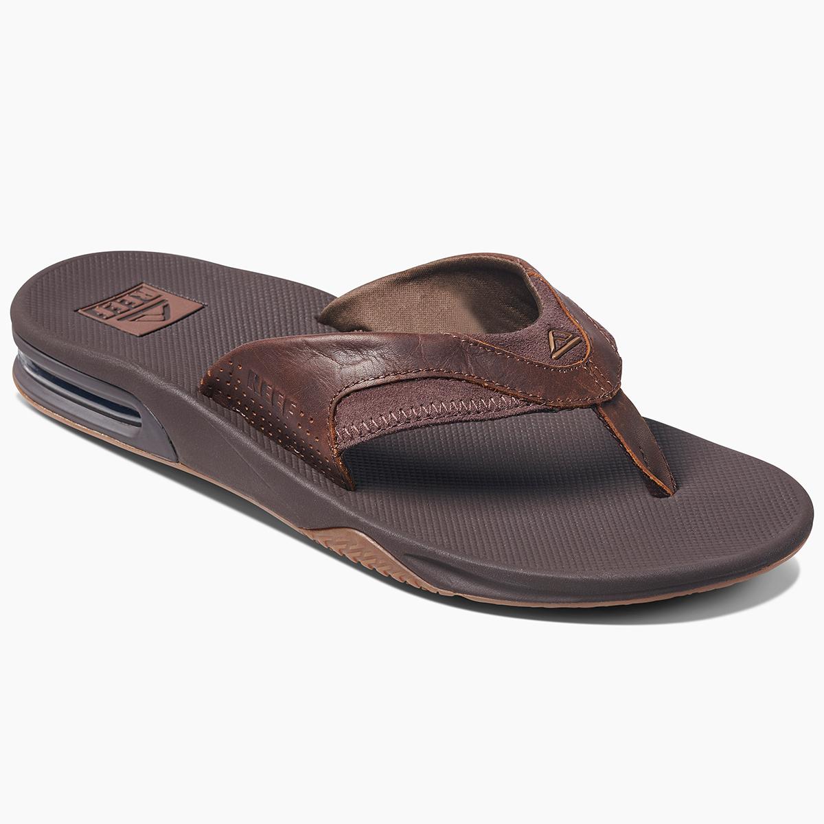 Reef Men's Fanning Flip-Flops - Brown, 11
