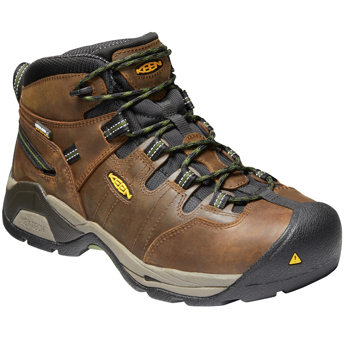 Keen Men's Detroit Xt Mid Steel Toe Waterproof Work Boots - Brown, 10.5