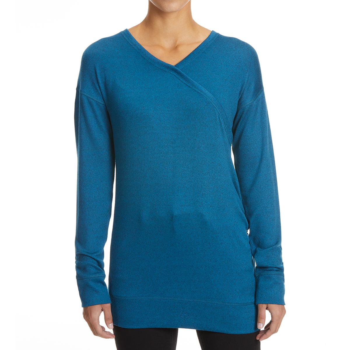 Ems Women's Cochituate Long-Sleeve Wrap - Blue, XL