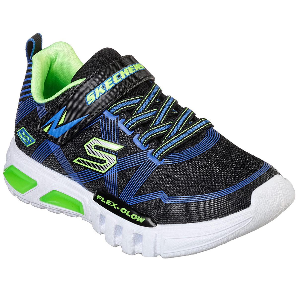 Skechers Boys' Flex Glow Parrox Light Up Shoes - Blue, 10