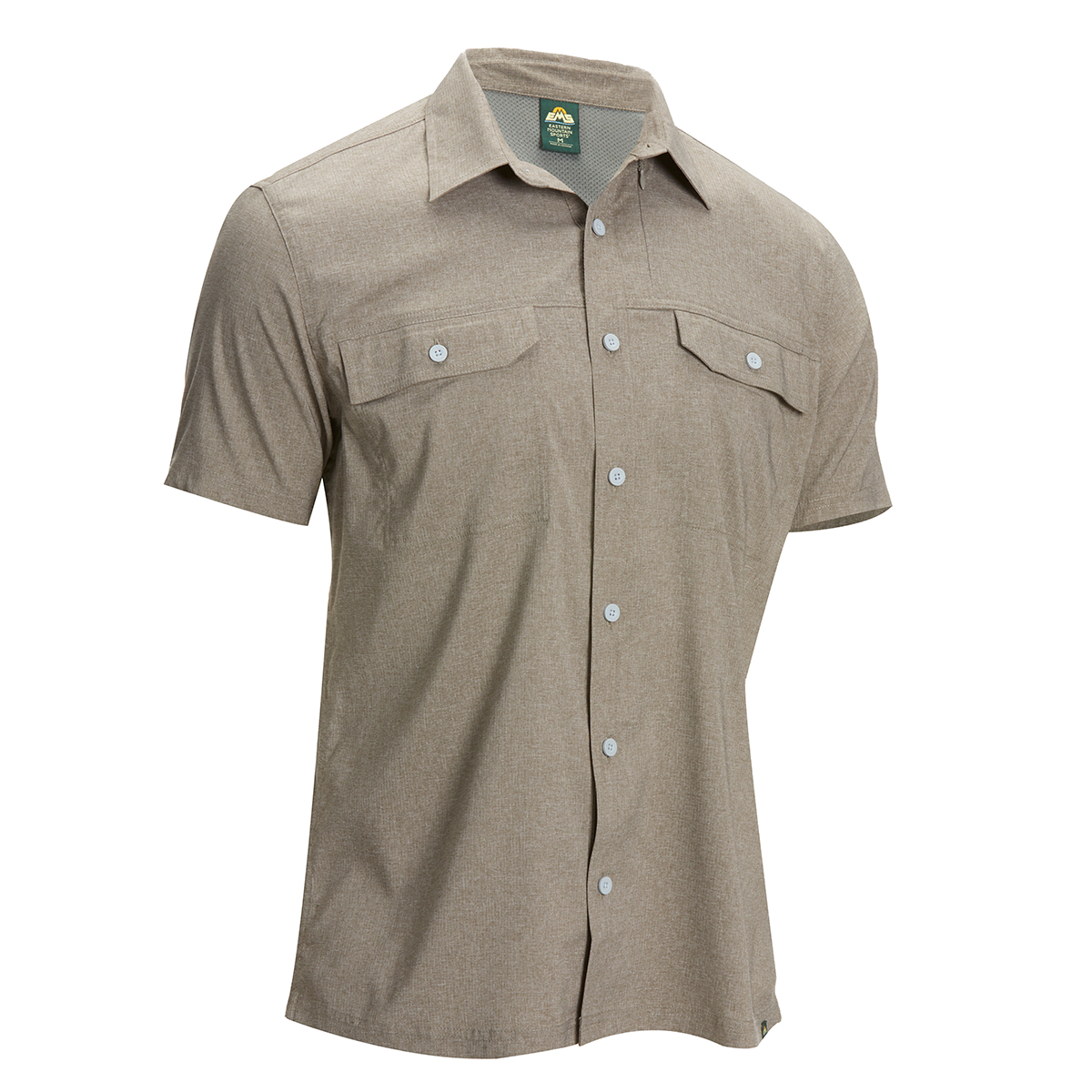 Ems Men's Ventilator Short-Sleeve Shirt - Brown, M