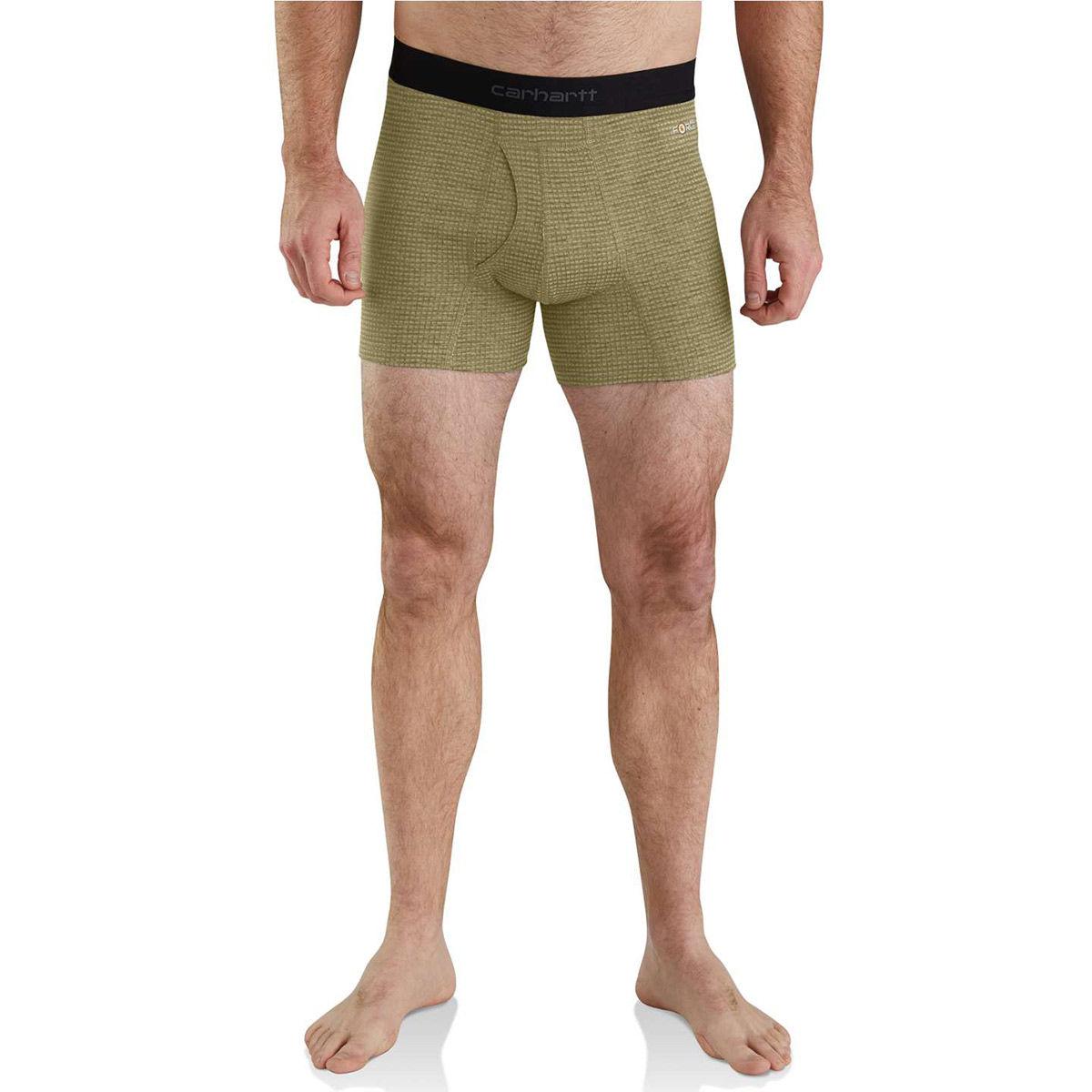 Carhartt Men's Base Force Tech Boxer Brief - Green, XL