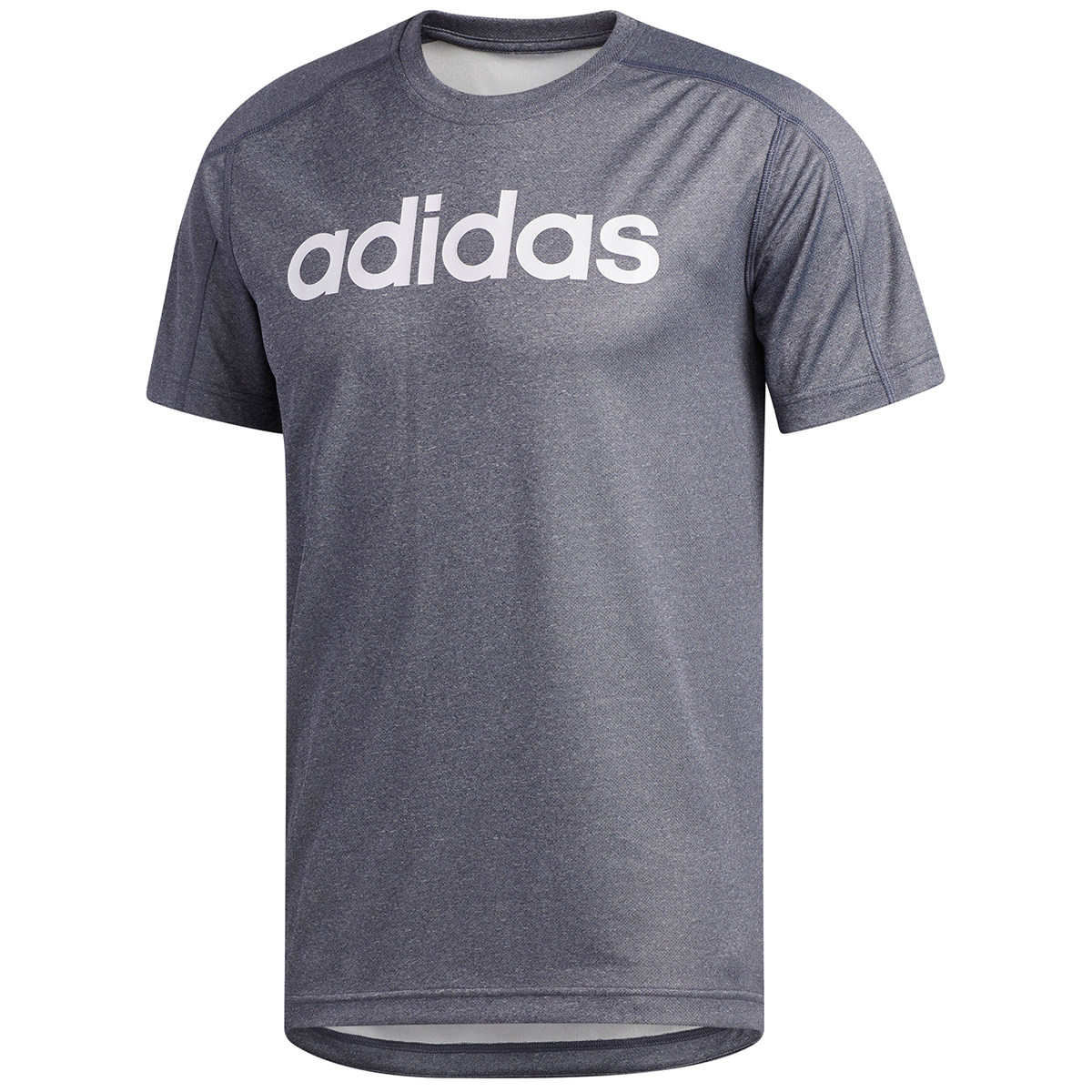 Adidas Men's D2M Short-Sleeve Tee - Blue, XL