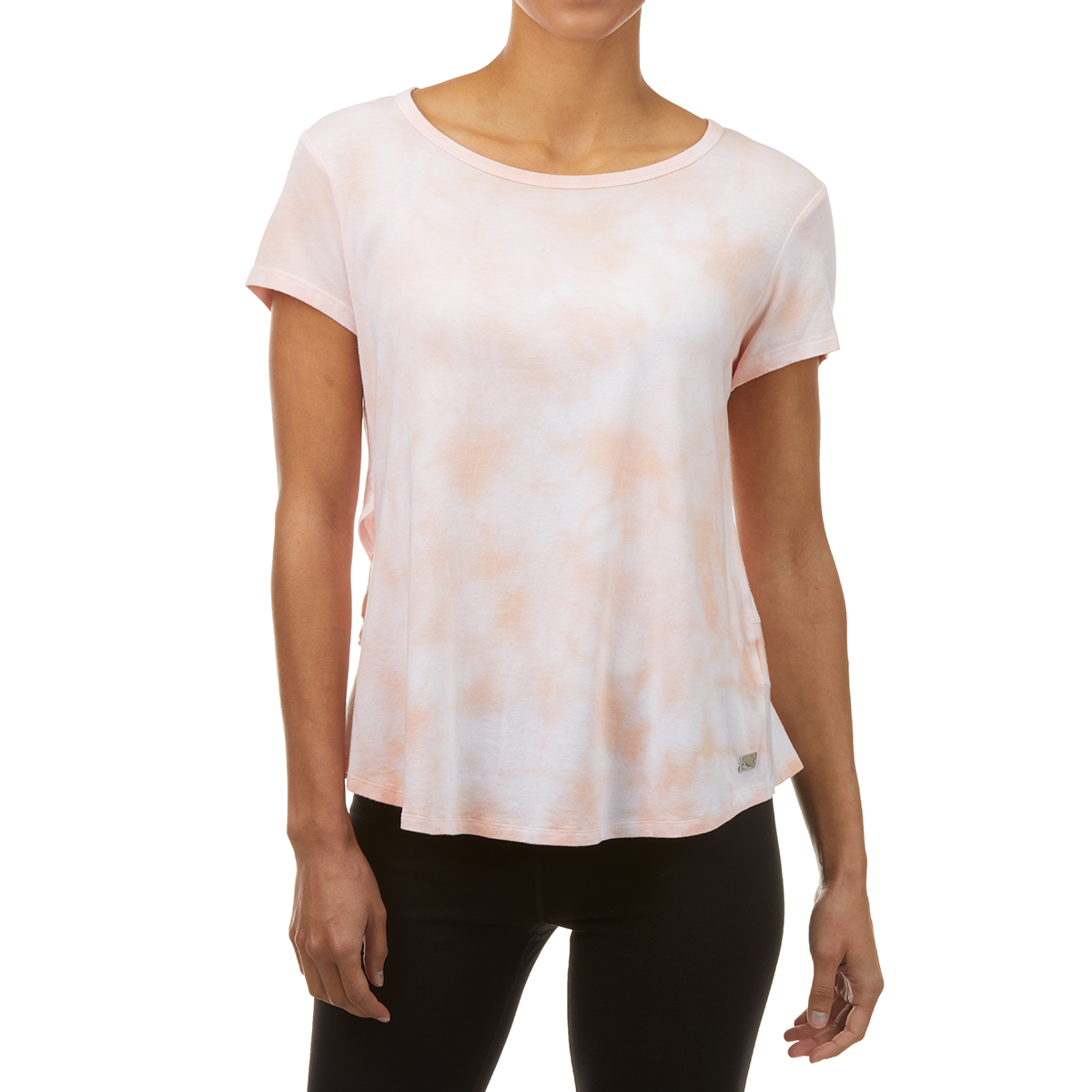 Calvin Klein Women's Short-Sleeve Tie-Die Tee - Orange, S