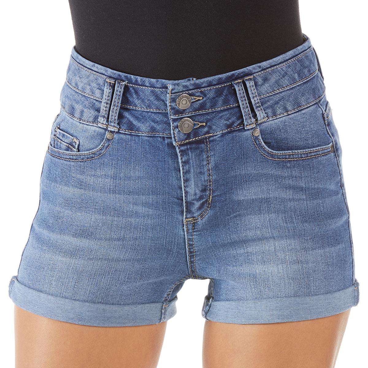 Blue Spice Juniors' Denim High Rise Shorts