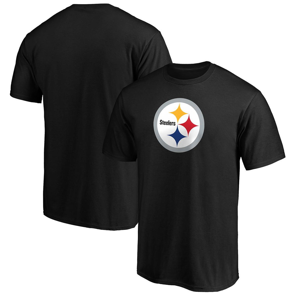 Pittsburgh Steelers Men's Primary Logo Short-Sleeve Tee - Black, XL
