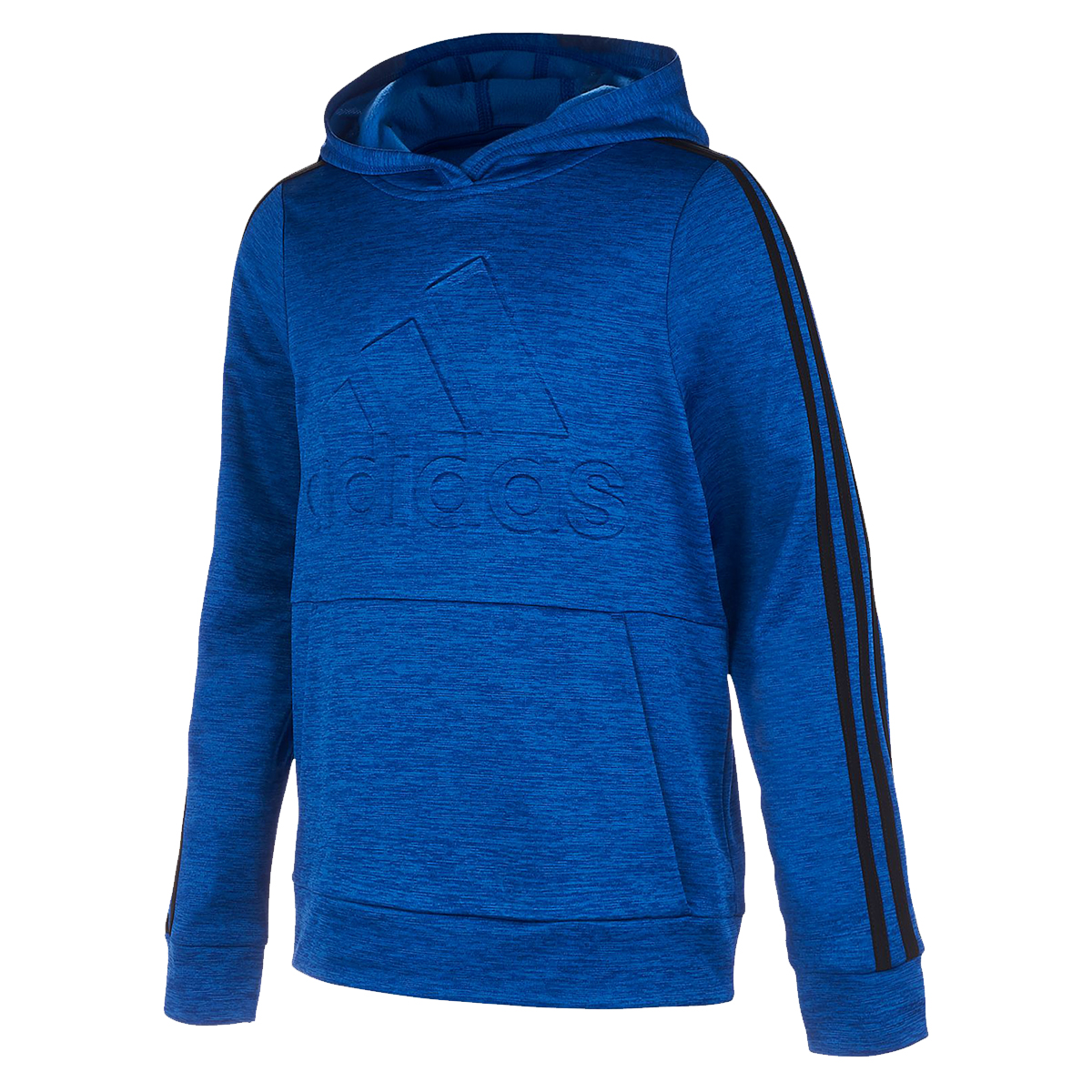 Adidas Big Boys' Embossed Pullover Hoodie - Blue, L