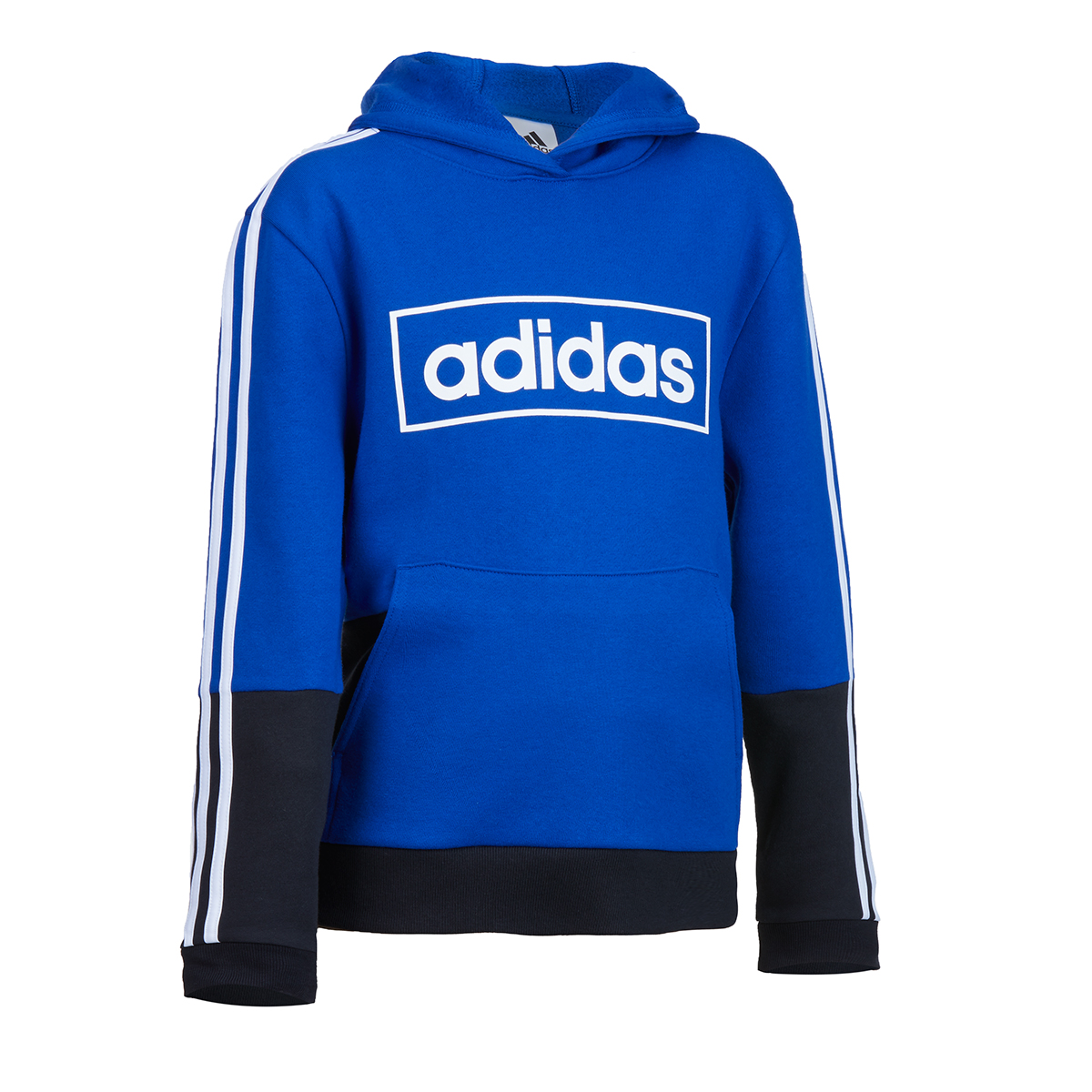 Adidas Little Boys' Colorblock Pullover Hoodie - Blue, 5