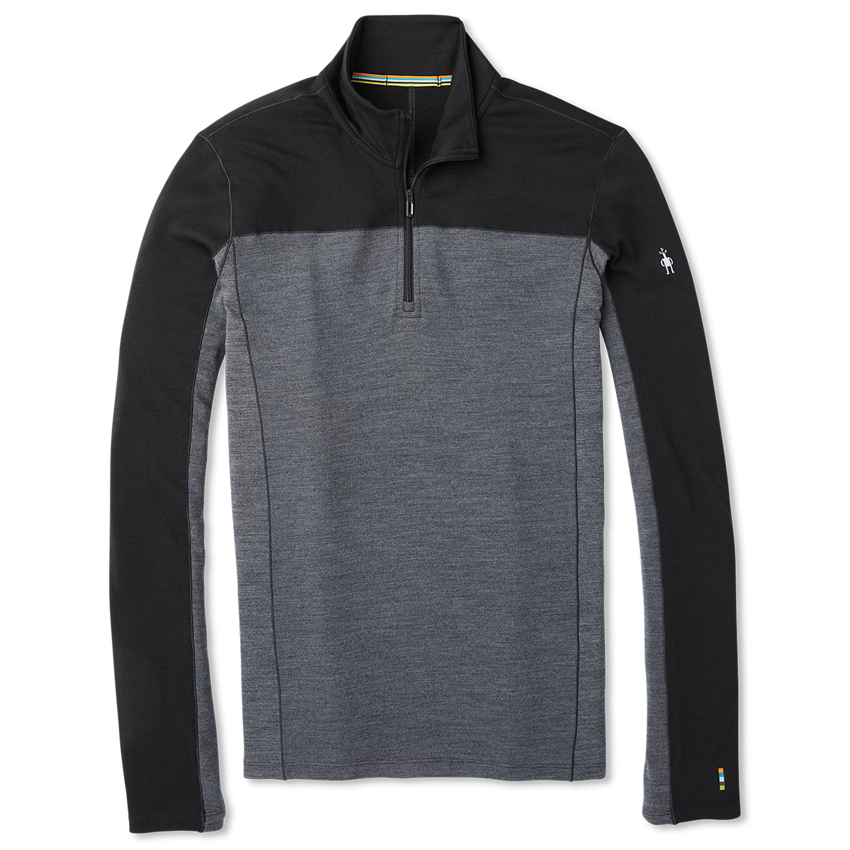 Smartwool Men's Merino Sport 250 Long-Sleeve 1/4-Zip Pullover - Black, M