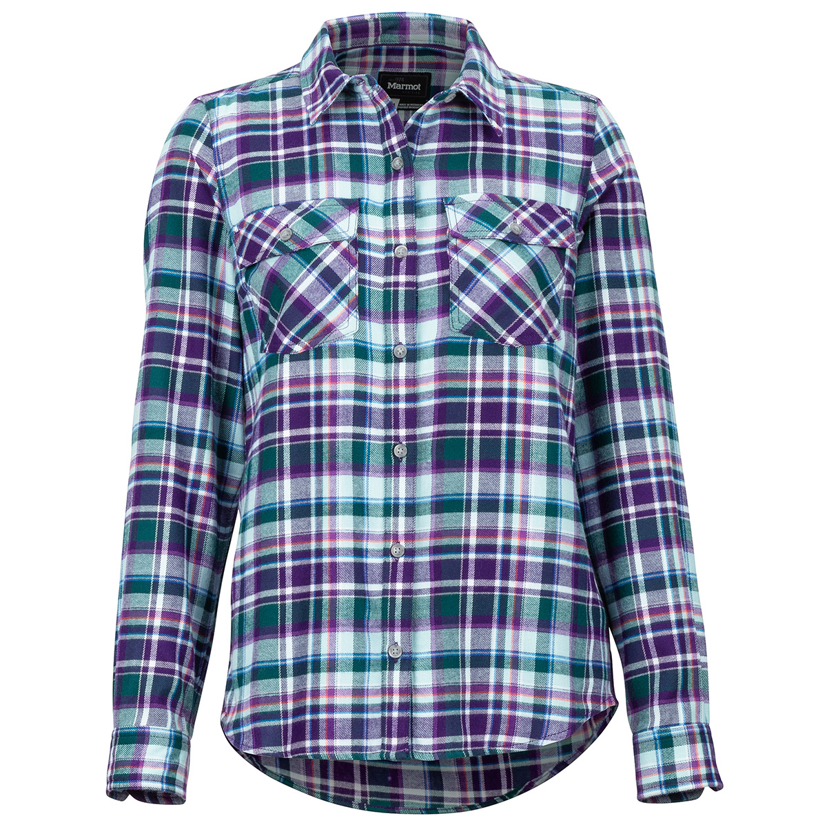 Marmot Women's Bridget Flannel Long-Sleeve Shirt - Purple, M