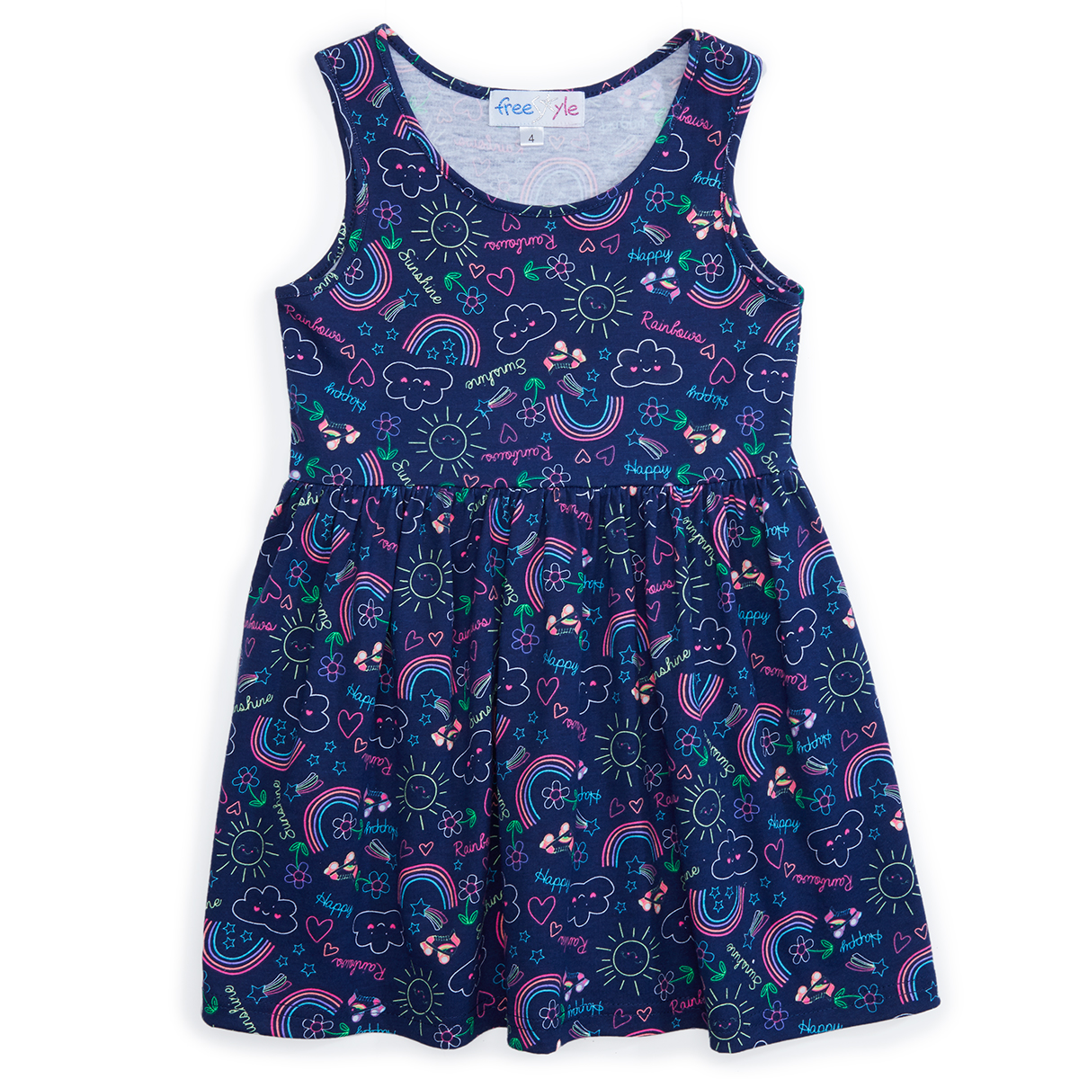 Freestyle Girls' Sleeveless Dress - Black, 6X