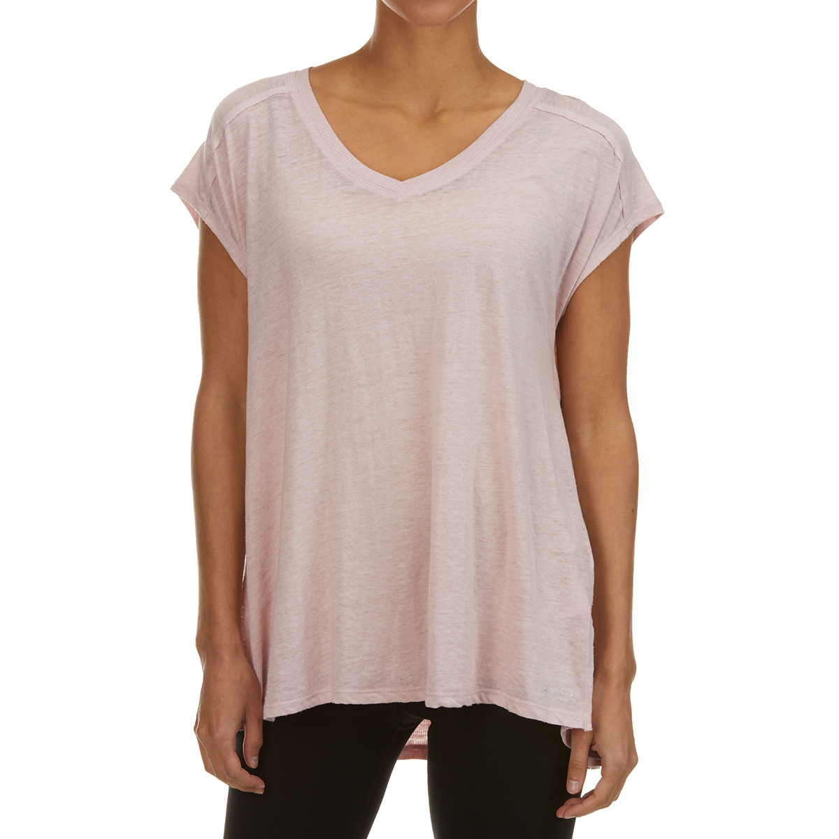 Calvin Klein Women's Short-Sleeve Performance Gathered-Back Tee