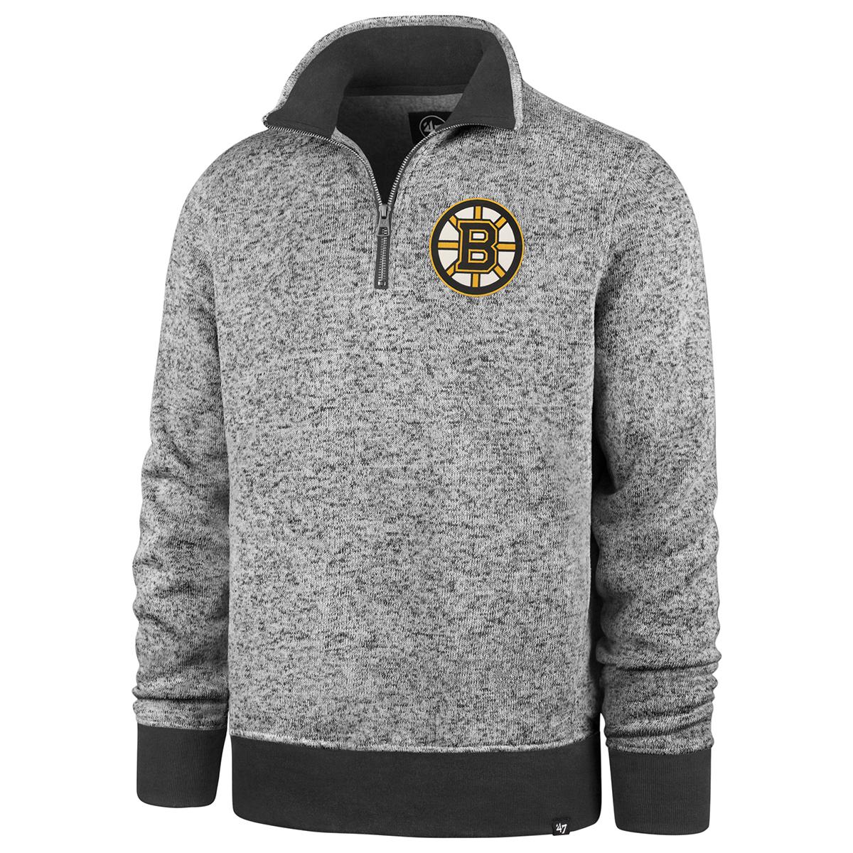 Boston Bruins Men's Encore Kodiak Quarter Zip Fleece - Black, XXL