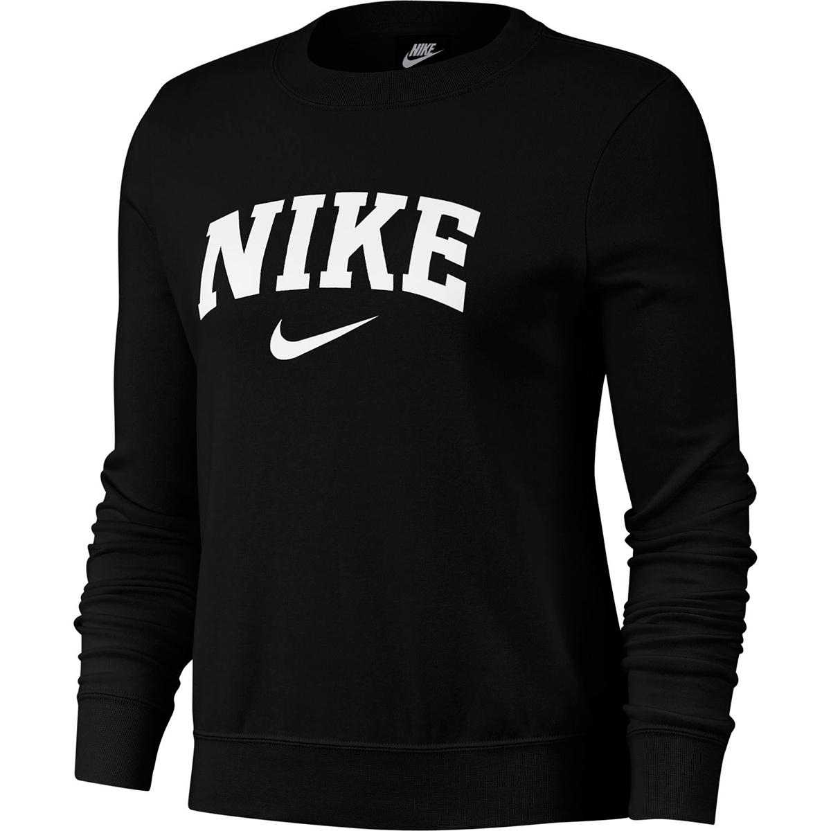 Nike Women's Nike Swoosh Fleece Crewneck Sweatshirt - Black, L