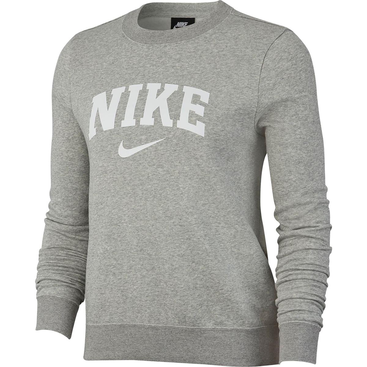 Nike Women's Nike Swoosh Fleece Crewneck Sweatshirt - Black, S