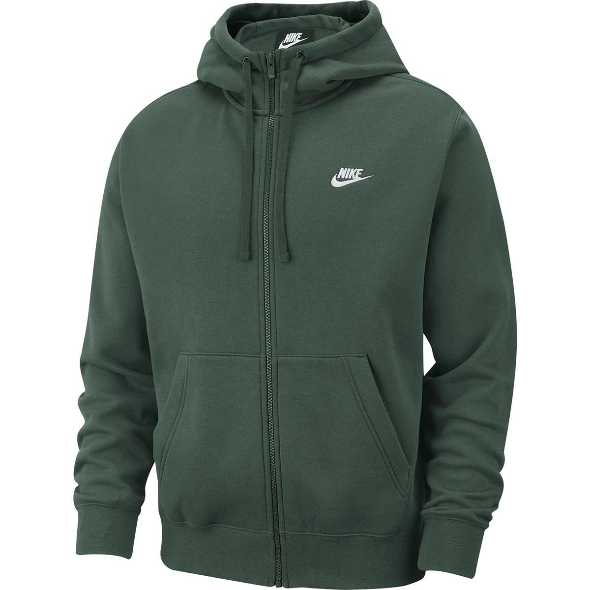 Nike Men's Full-Zip Nike Swoosh Hoodie - Green, L
