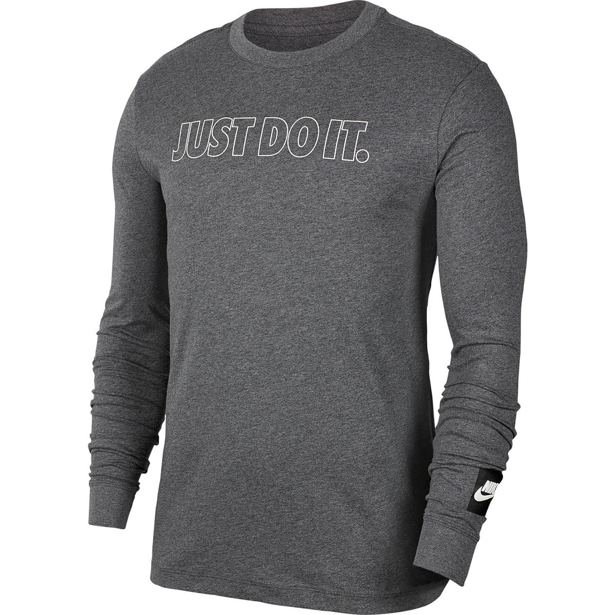 Nike Men's Long-Sleeve Just Do It Outline Tee - Black, XL
