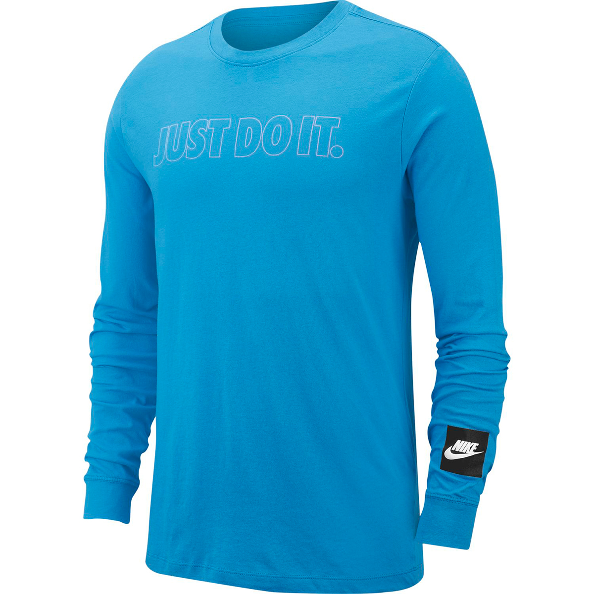 Nike Men's Long-Sleeve Just Do It Outline Tee - Blue, XL