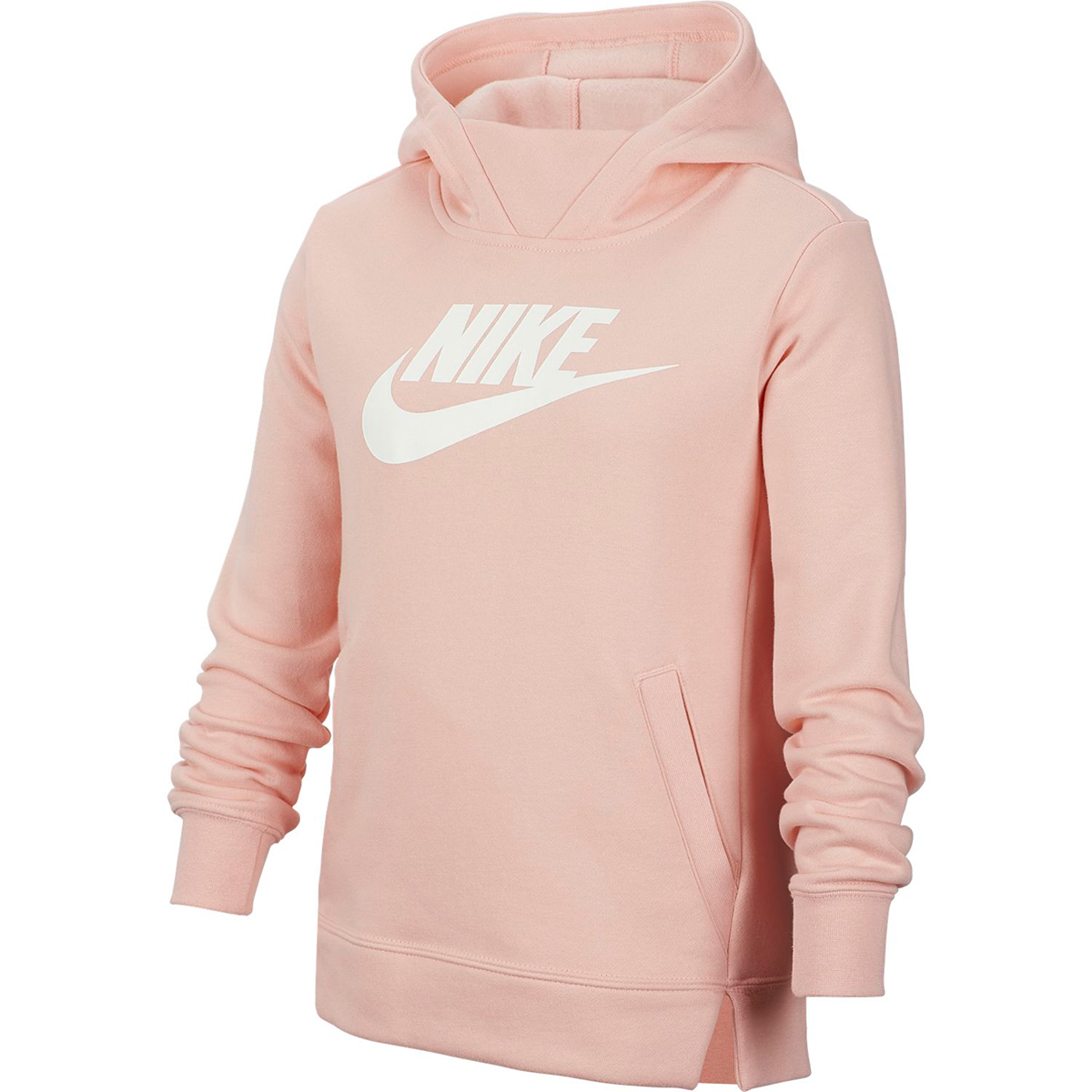 Nike Girls' Sportswear Pullover Hoodie - Red, S