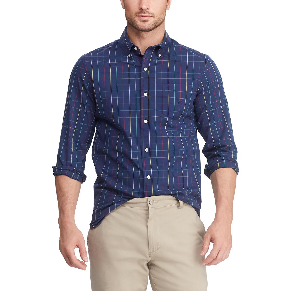 Chaps Men's Stretch Long-Sleeve Shirt - Various Patterns, XL