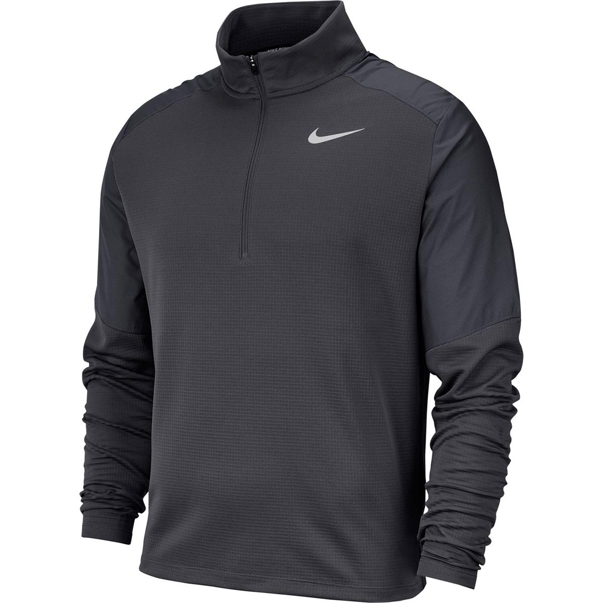 Nike Men's Long-Sleeve Quarter Zip Pacer Top - Black, XL