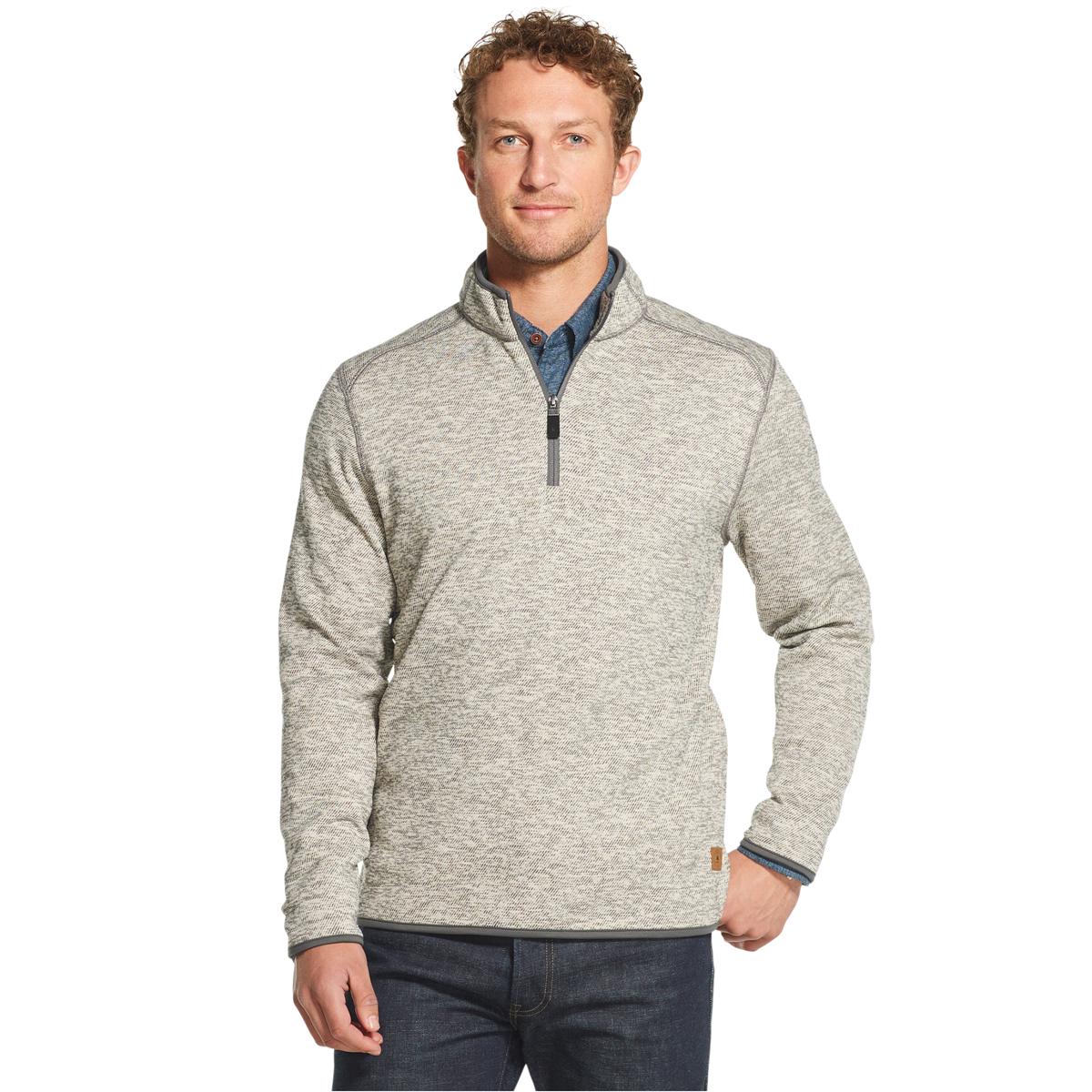 Gh Bass Men's Mountain Fleece 1/4-Zip Pullover - Black, XL