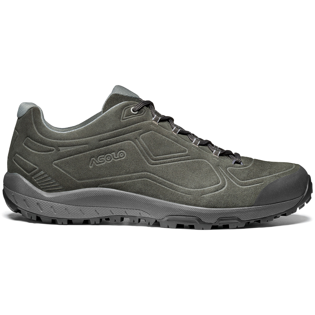 Asolo Men's Flyer Leather Hiking Shoe - Black, 10.5