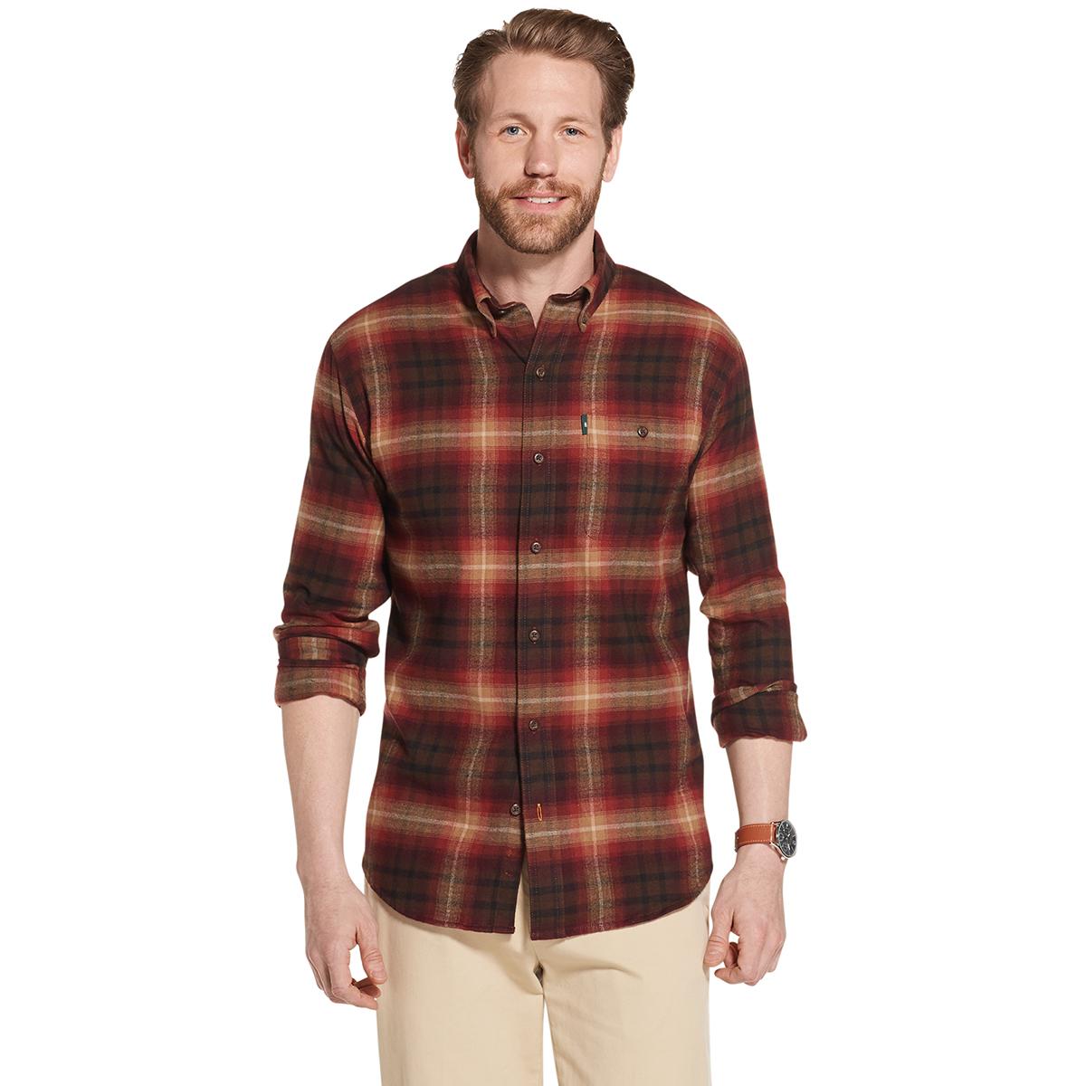 G.H.BASS & CO. Men's Fireside Plaid Flannel - Red, L