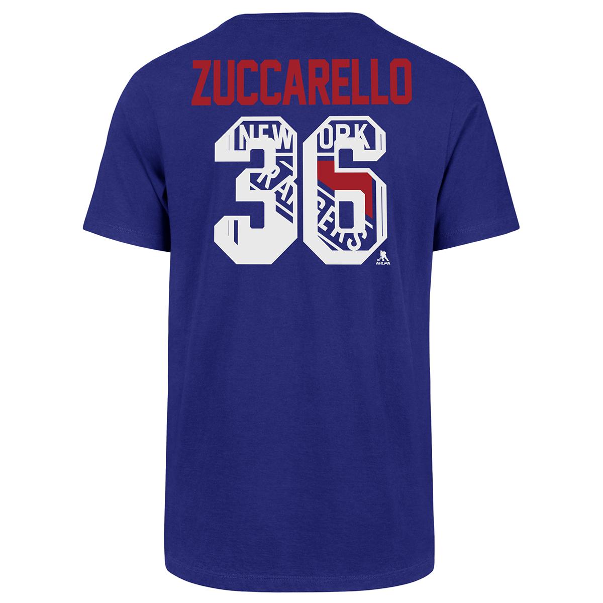 New York Rangers Men's Zuccarello Super Rival Short-Sleeve Tee - Blue, L