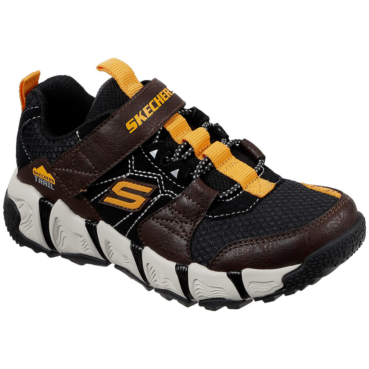 Skechers Boys' Velocitrek Sneakers - Brown, 3