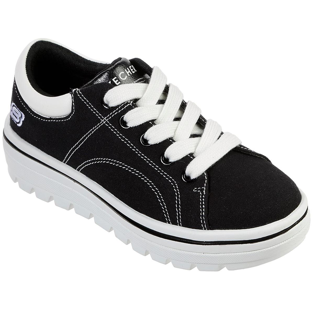 Skechers Girls' Street Cleats 2 Sneaker - Black, 13