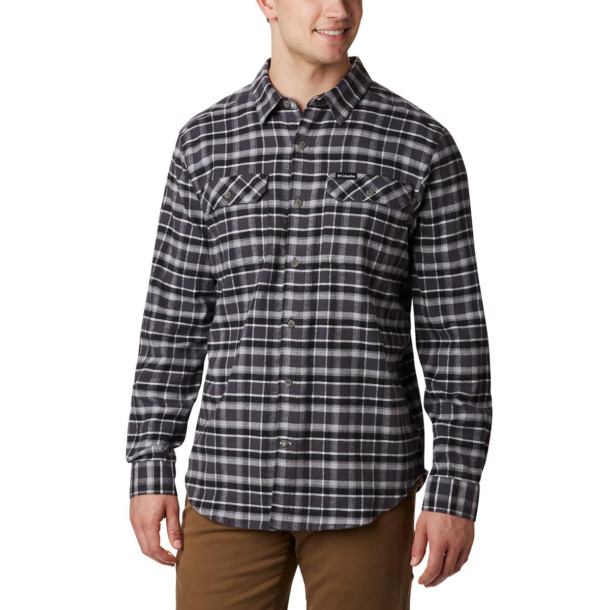 Columbia Men's Flare Gun Stretch Flannel Shirt - Black, L
