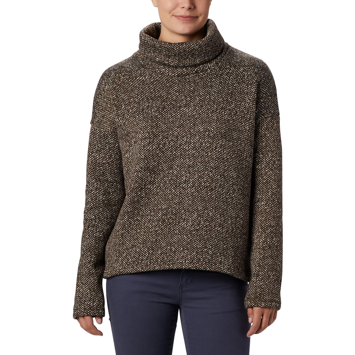 Columbia Women's Chillin Fleece Pullover - Green, L
