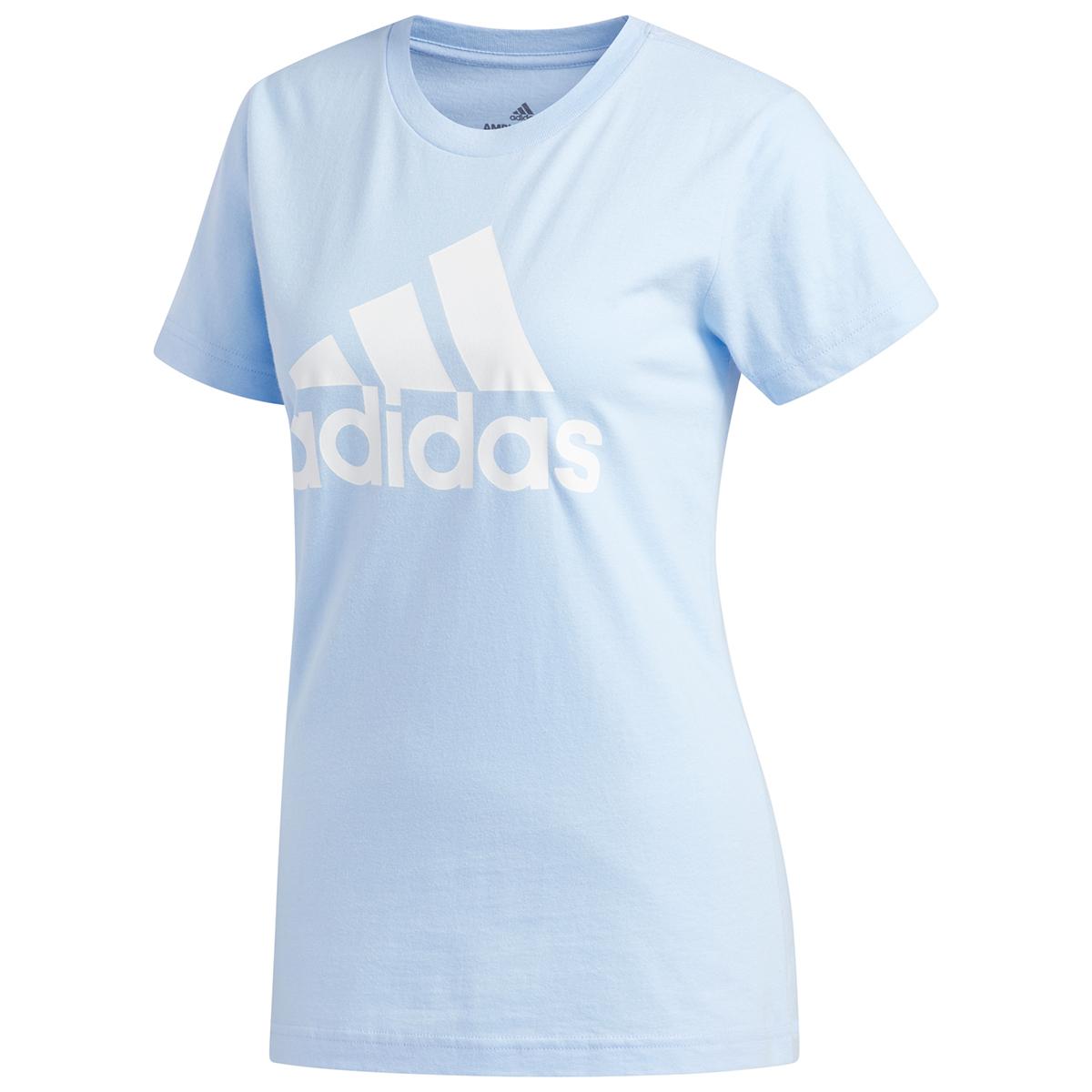 Adidas Women's Short-Sleeve Badge Of Sport Tee - Blue, L