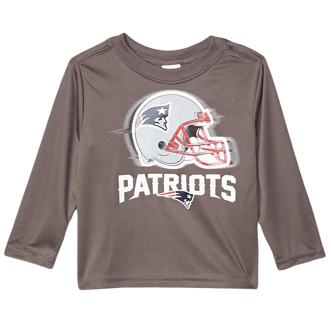 New England Patriots Toddler Boys' Gerber Long Sleeve Tee - Black, 2T