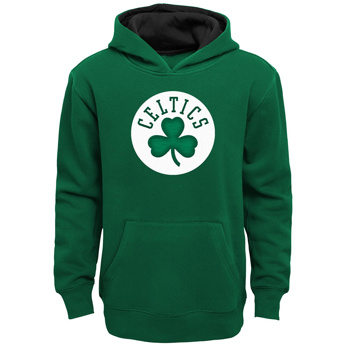 Boston Celtics Boys' Prime Shamrock Pullover Hoodie - Green, XL