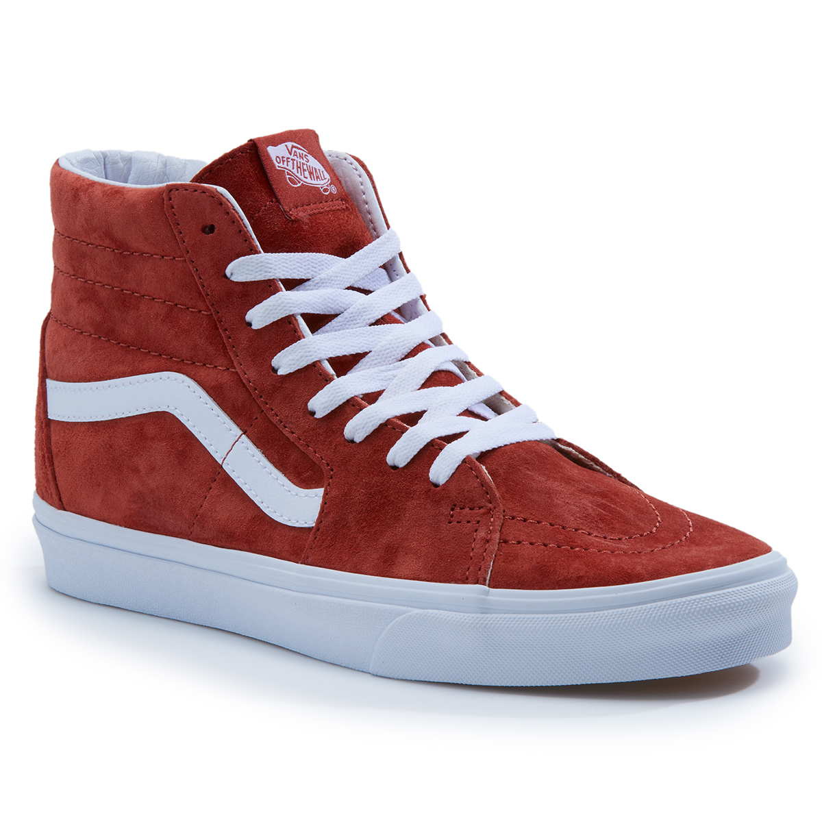 Vans Men's Sk8-Hi Pig Suede Casual Shoes - Brown, 9