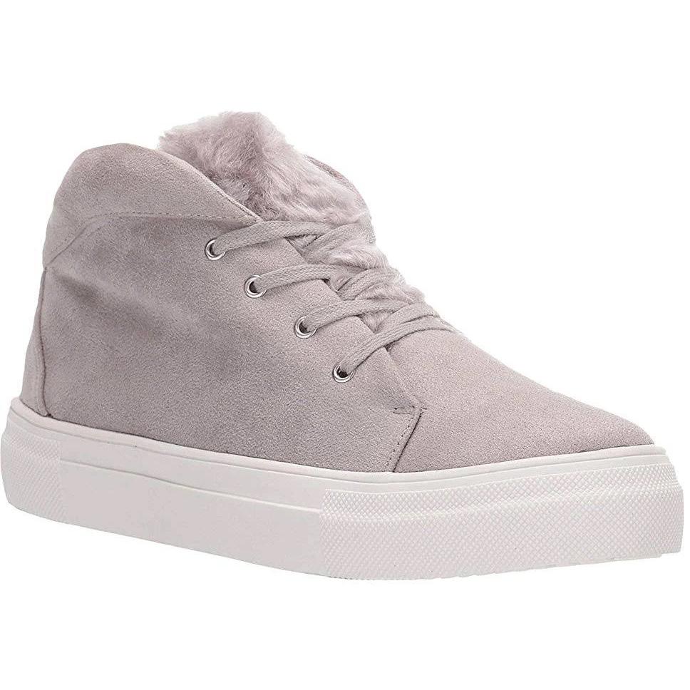 MIA Women's Tillie Faux Fur Sneakers - Black, 6