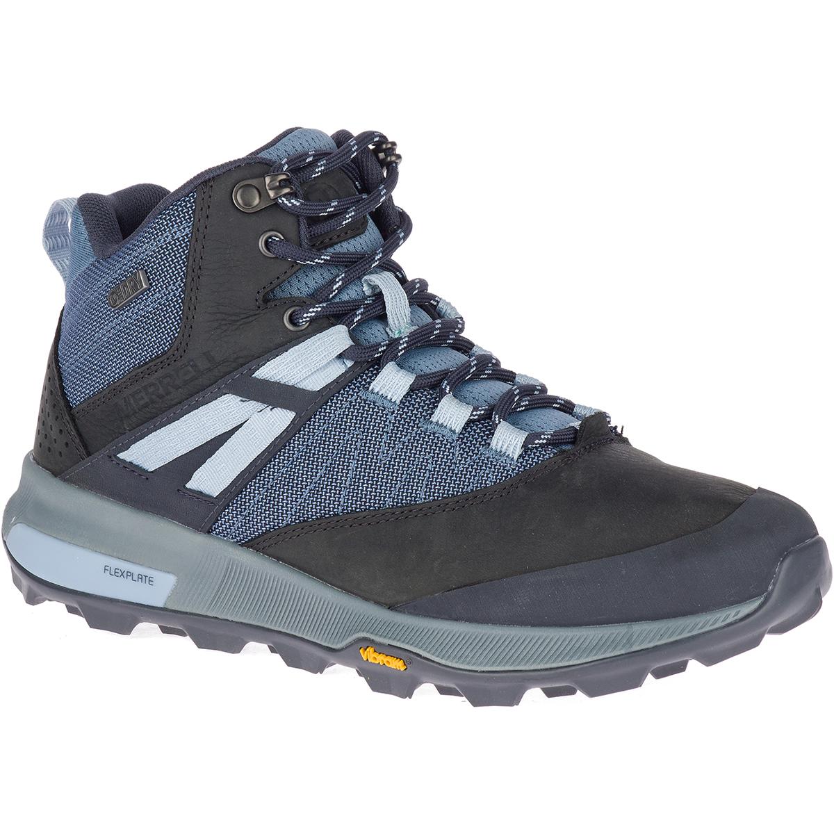 Merrell Women's Zion Mid Waterproof Hiking Shoes - Blue, 6