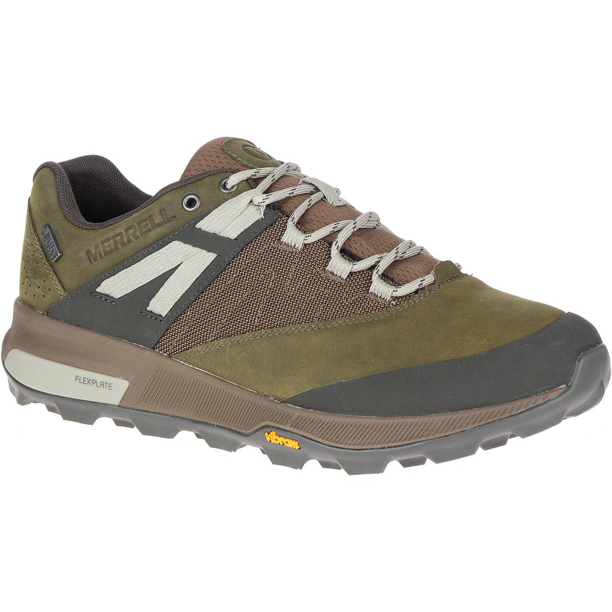 Merrell Men's Zion Waterproof Hiking Shoe - Green, 10.5