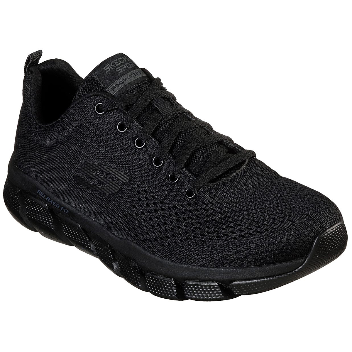 Skechers Men's Relaxed Fit Skech-Flex 3.0 Verko Lace Up Sneakers - Black, 13