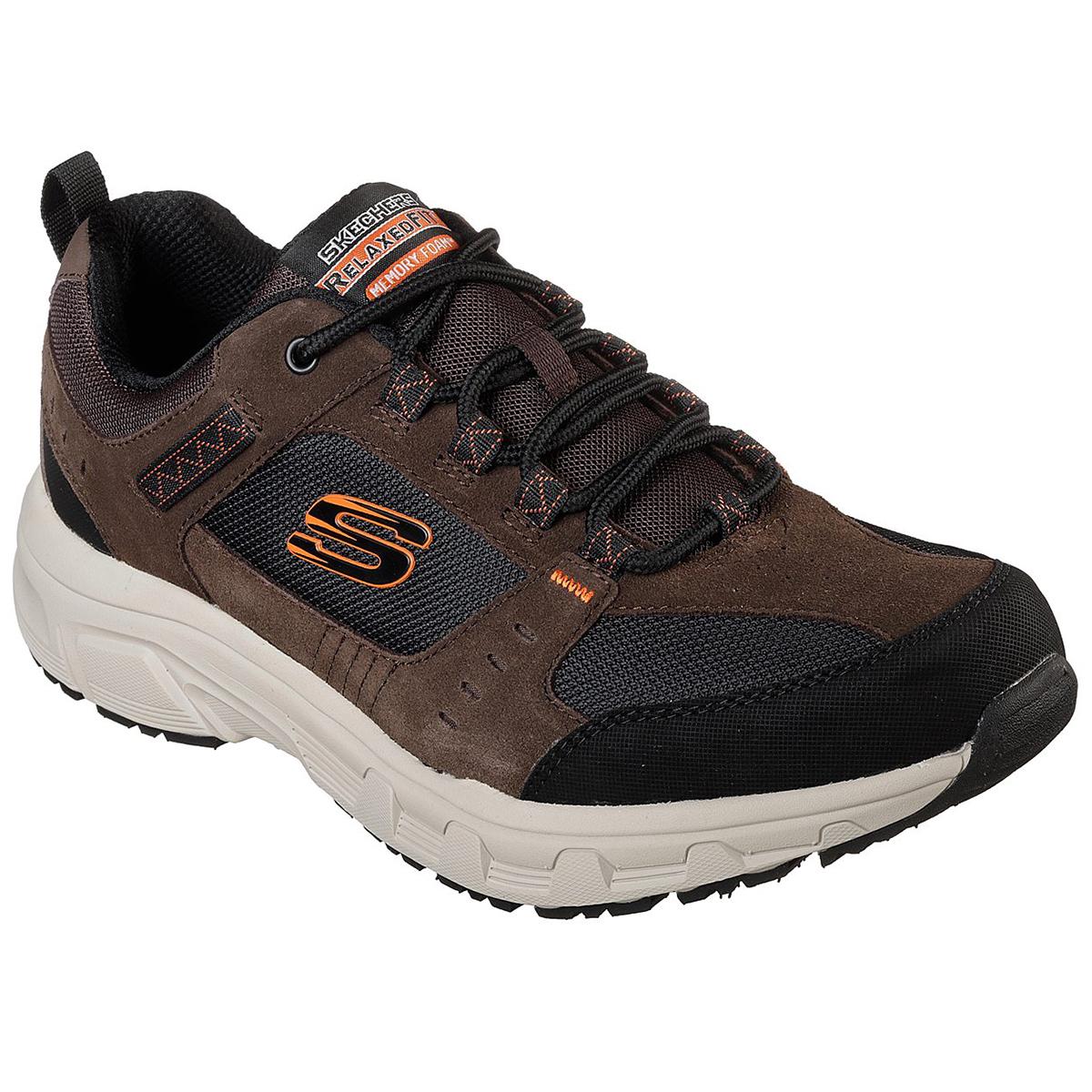 Skechers Men's Oak Canyon Low-Top Outdoor Sneakers - Brown, 8