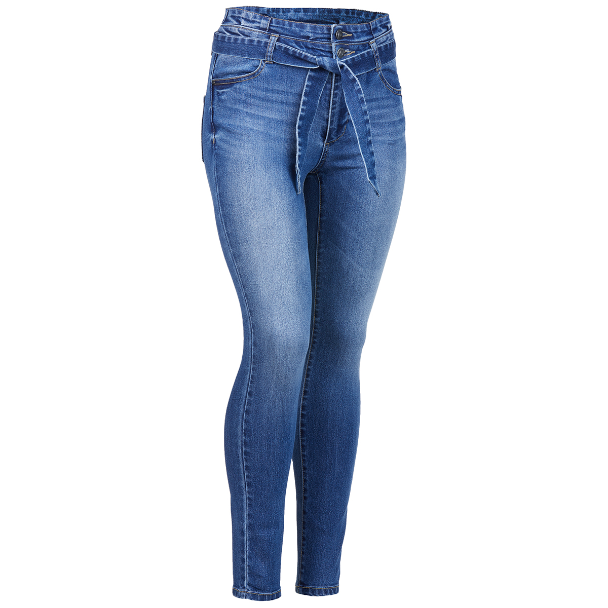 Blue Spice Juniors' Paper Bag Skinny Jeans