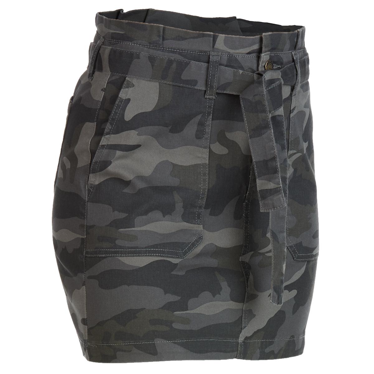 Blue Spice Juniors' High Waist Self Belted Paperbag Skirt