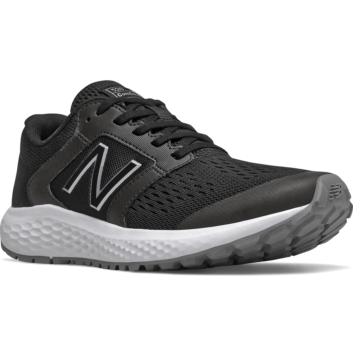 New Balance Men's 520 V5 Running Shoe, Wide - Black, 8